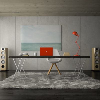 Interior modern office room 3D rendering